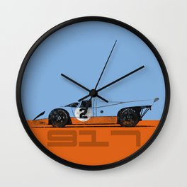 Vintage Le Mans race car livery design - 917 Wall Clock