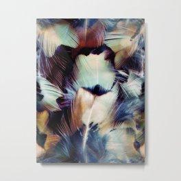 Feather Portrait Metal Print