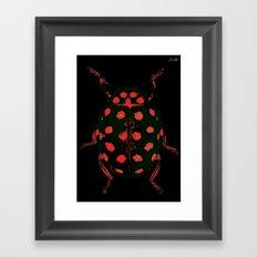 Insecte rouge et noir colors fashion Jacob's Paris Framed Art Print