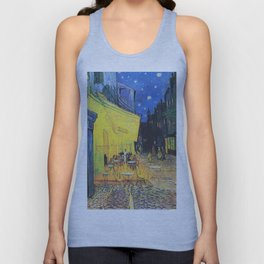 Café Terrace at Night by Vincent van Gogh Unisex Tank Top