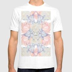 Wildflower symmetry Mens Fitted Tee MEDIUM White