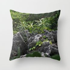 Cayman Plants Throw Pillow