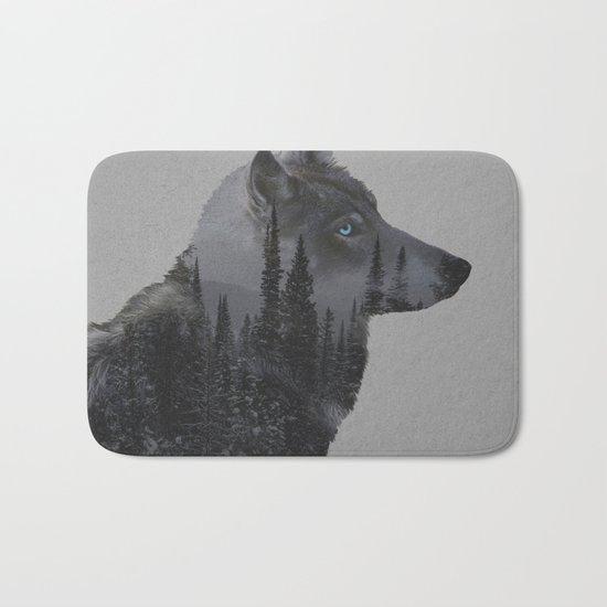 Winter Wolf Bath Mat