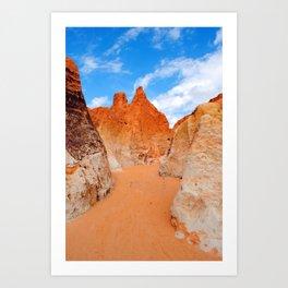 Red Sand Canyon Art Print
