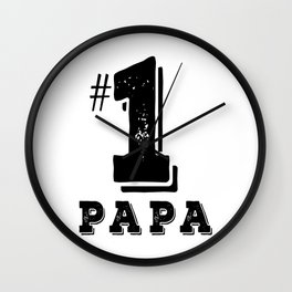 Papa No. 1 Father Day Gift Best Dad Ever Wall Clock