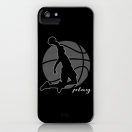 Basketball Player (monochrome) iPhone Case
