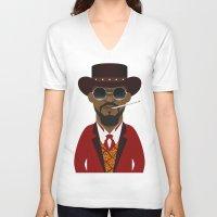 django V-neck T-shirts featuring DJANGO by Capitoni