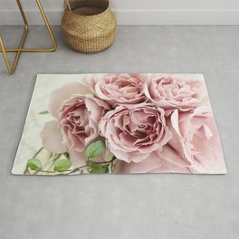 Marvelous Beautiful Corsage Pink Roses Blossoms Close Up Ultra HD Rug