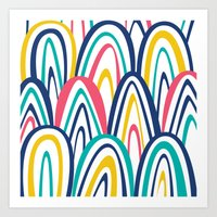 Arched Stripes Art Print