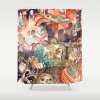 spirited away Shower Curtains featuring Spirited Away by Foya