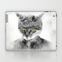 Biker Cat Laptop & iPad Skin