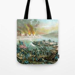 Battle of Fredericksburg -- Civil War Tote Bag