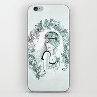 charmaine olivia iPhone & iPod Skins featuring Olivia by Quill