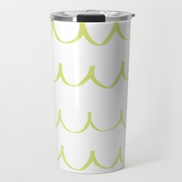Citron Green Waves Travel Mug