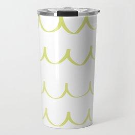 Citron Green Waves Travel Mug