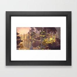 Treehouse Dinner With Animal Friends Framed Art Print