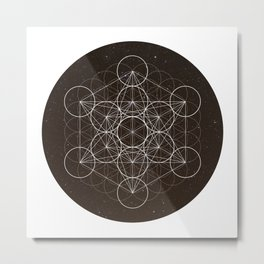 Metatrons Cube Is Out Of Space Metal Print