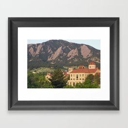 University of Colorado - Boulder Framed Art Print