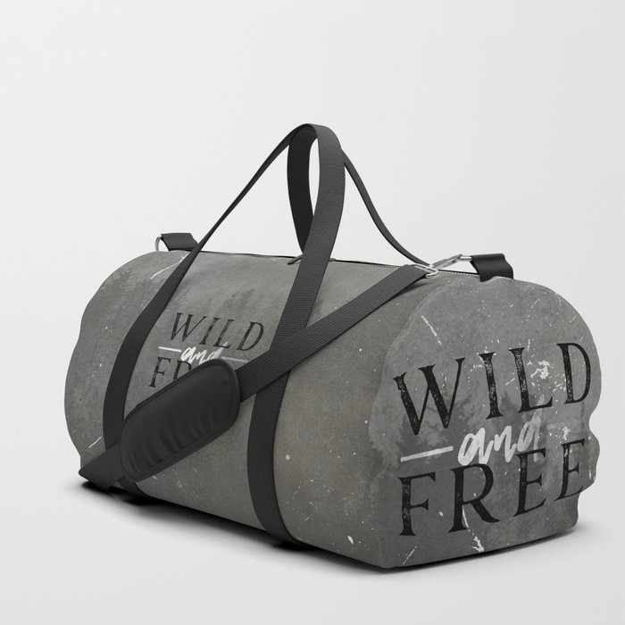 Wild and Free Silver Concrete Duffle Bag by cascadia  fd347e924a556