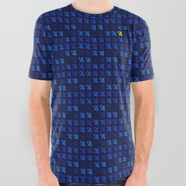 Jupiter's Square (Navy) All Over Graphic Tee