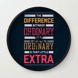 Lab No. 4 The Difference Between Life Inspirational Quotes Wall Clock