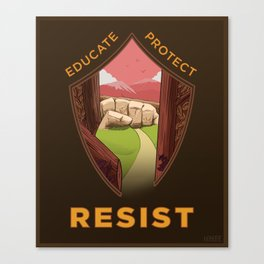 Educate, Protect, Resist Canvas Print