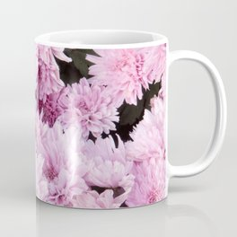 A Sea of Light Pink Chrysanthemums #1 #floral #art #Society6 Coffee Mug