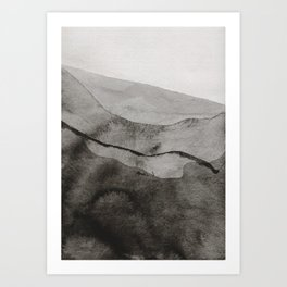 Ink Layers Art Print