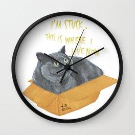 Boxcat Wall Clock