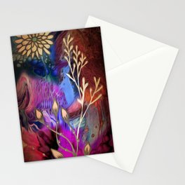 Flower Blues Stationery Cards