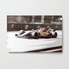 Circuit racecar Metal Print