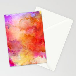 ink style of orange watercolour texture Stationery Cards