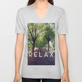 Relax in the Park Unisex V-Neck