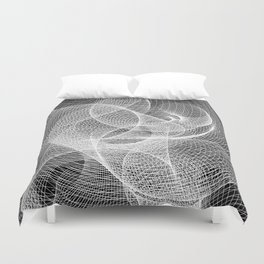 Spiral - Black BG. Duvet Cover