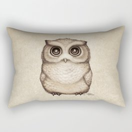 """The Little Owl"" by Amber Marine ~ Graphite & Ink Illustration, (Copyright 2016) Rectangular Pillow"
