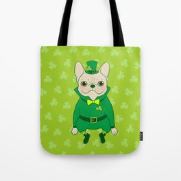Cute French Bulldog is Feeling Lucky on St. Patrick's Day Tote Bag