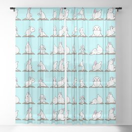 Bunnies Yoga Sheer Curtain