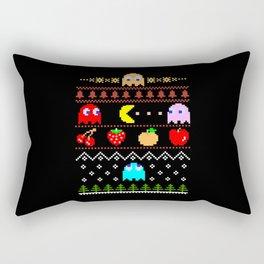 Arcade Christmas Rectangular Pillow