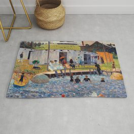 Pierre-Auguste Renoir - The Bathing Hour, Chester, Nova Scotia Rug