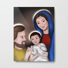Happy Holy Family - Meera Mary Thomas Design Metal Print