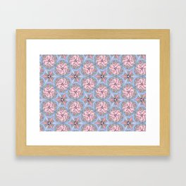 Pattern blue gray color Framed Art Print
