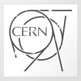Cern 666 Distressed Logo Artwork for Prints Posters Tshirts Bags Mugs Men Women Kids Art Print