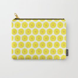 Yellow Gerbera Daisies Illustrated Print Carry-All Pouch