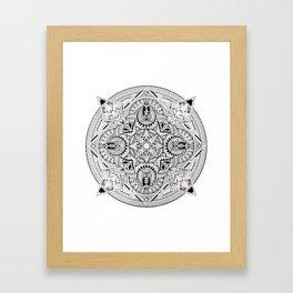 Lost Mandala  Framed Art Print