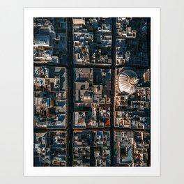 Valleta, Malta from above Art Print
