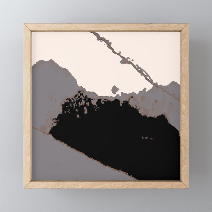 Organic No 16 Abstract Muted Society6 Artprints Fineart Decor Framed Mini Art Print By Menegasabidussi