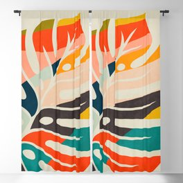 shape leave modern mid century Blackout Curtain