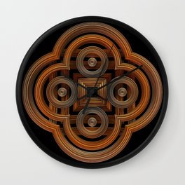 Metal Symmetry Wall Clock