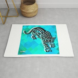 Cougar from the blue Sky ecopop Rug
