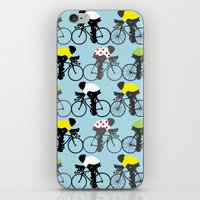 cycling iPhone & iPod Skins featuring Cycling by Mix Match Make